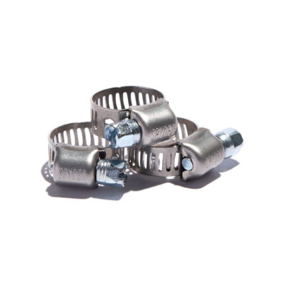 "Worm Gear Clamps 9/16"" Band Width All Stainless Steel"