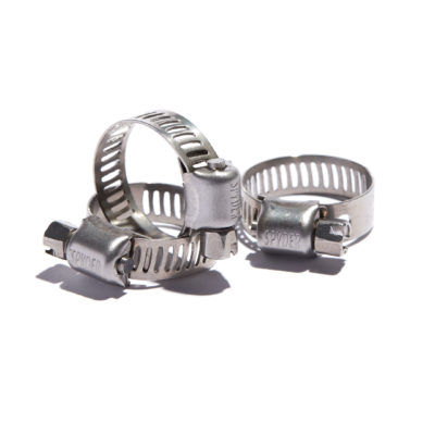 "Micro Gear Clamps 5/16"" Band Width All Stainless Steel"